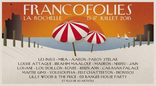 Affiche Francofolies 2016