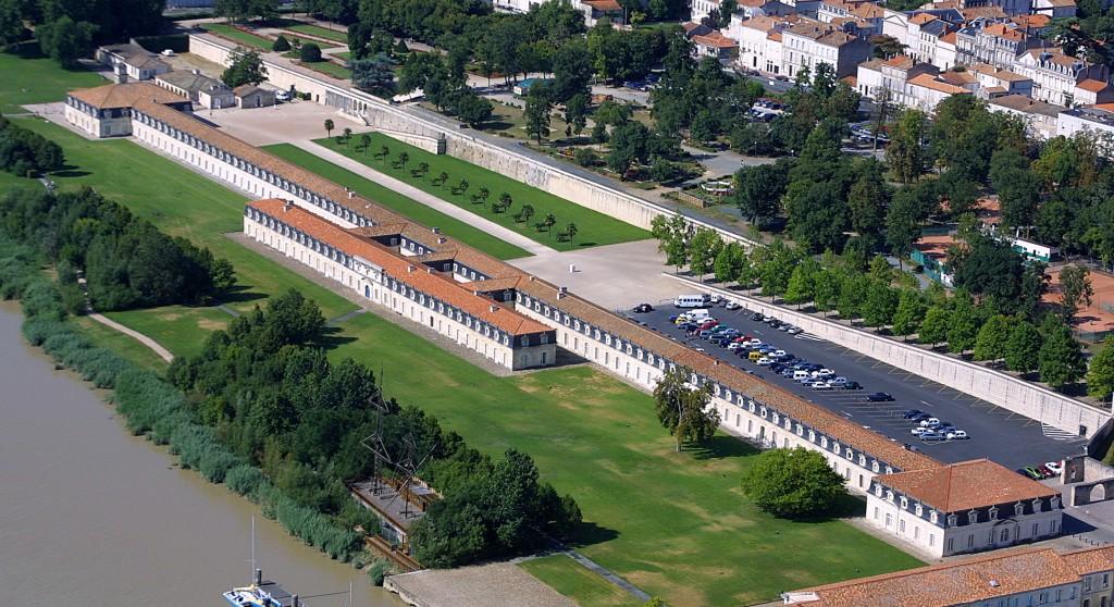 Vu aériennes de la Corderie Royale de Rochefort