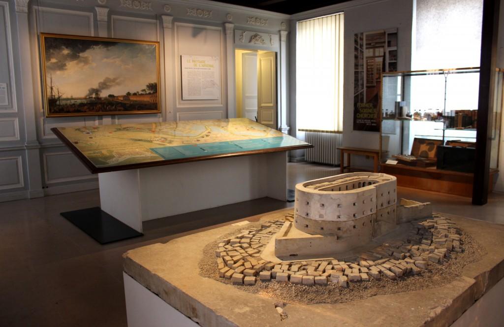La première salle du musée National de la Marine