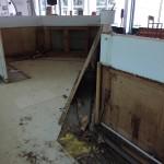 Phase 2 : Cassage de l'ancien comptoir