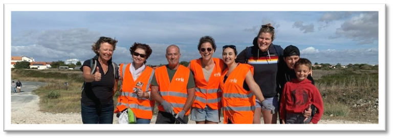 Equipe Auberge Jeunesse La Rochelle Wolrd Clean Up Day 2021